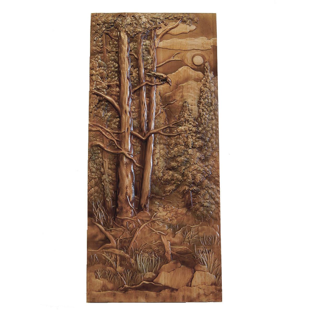 Картина Лес и ворон