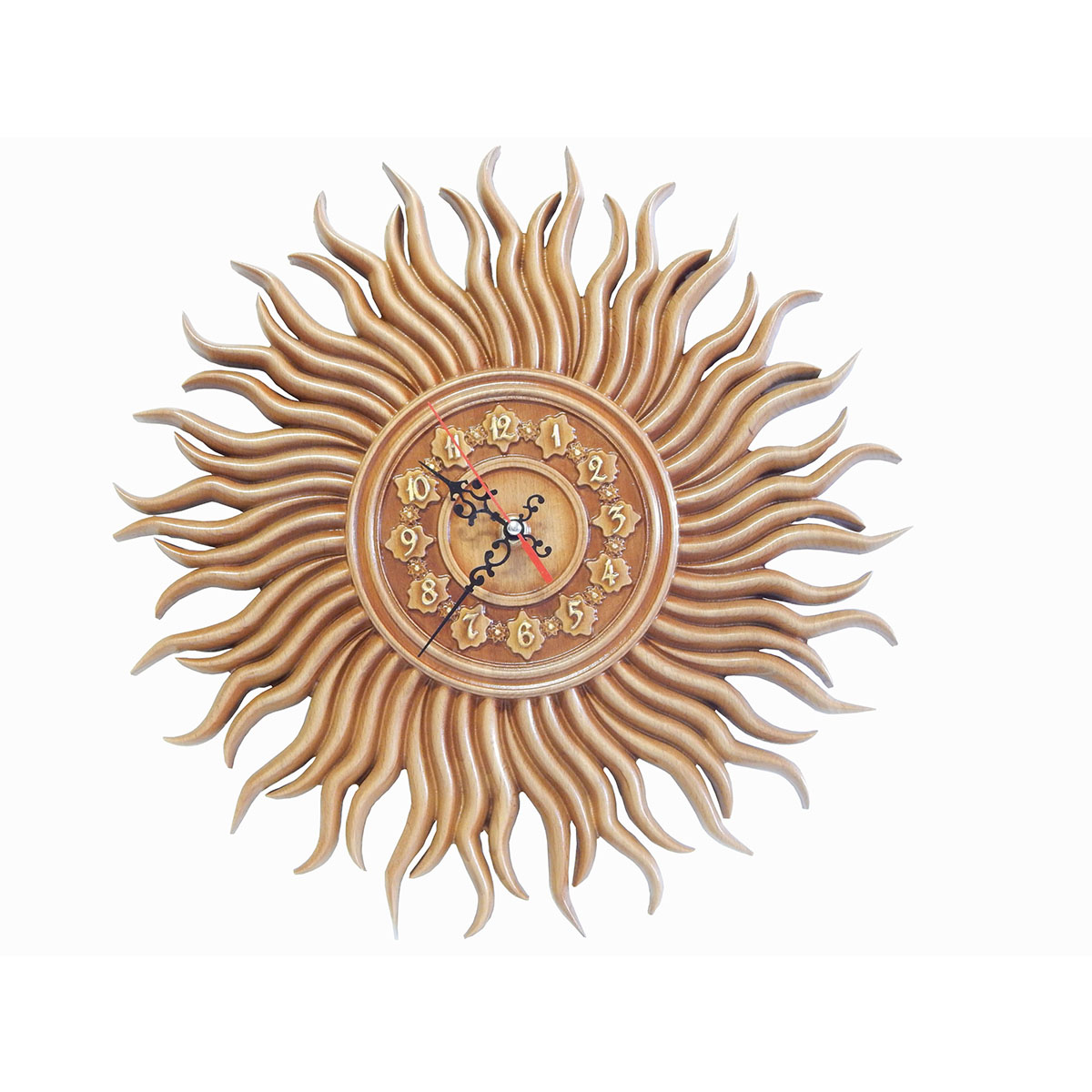 Часы в виде солнца настенные