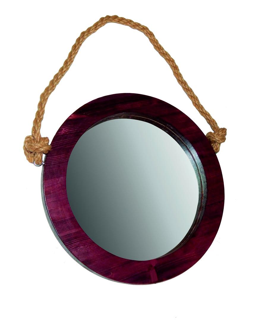 Купить зеркало в круглой раме, рама из дерева. Быстро, не дорого, качественно